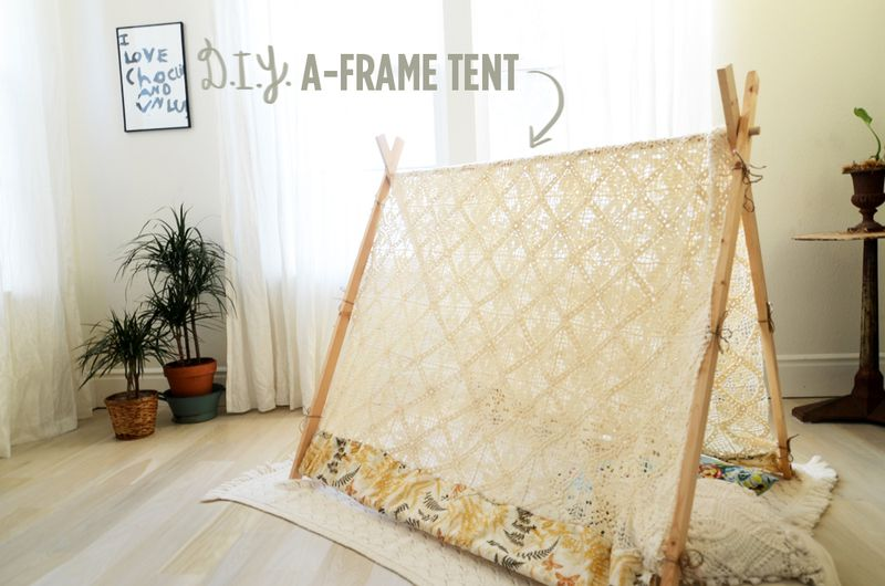 Make A-Frame Tent Tutorial