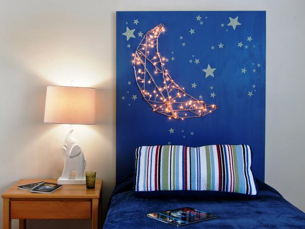How To Make a Kid's Headboard With Built-in Nightlights