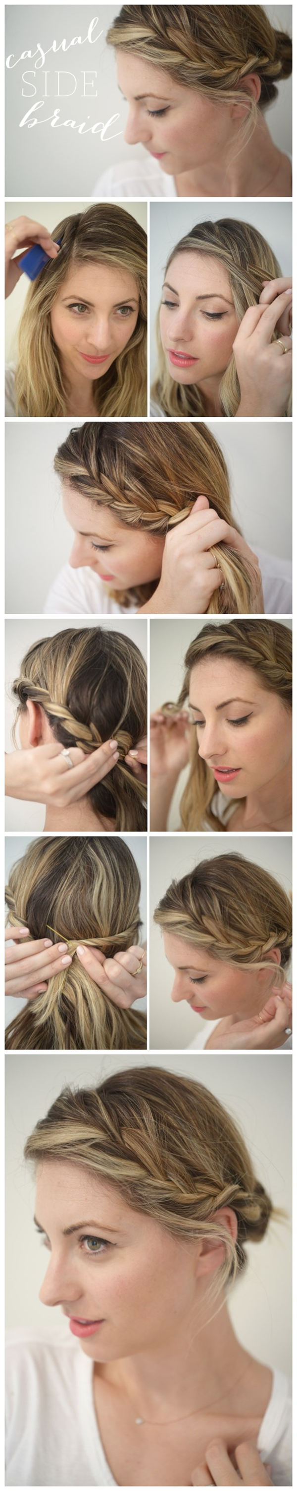 Casual Side Braid Tutorial