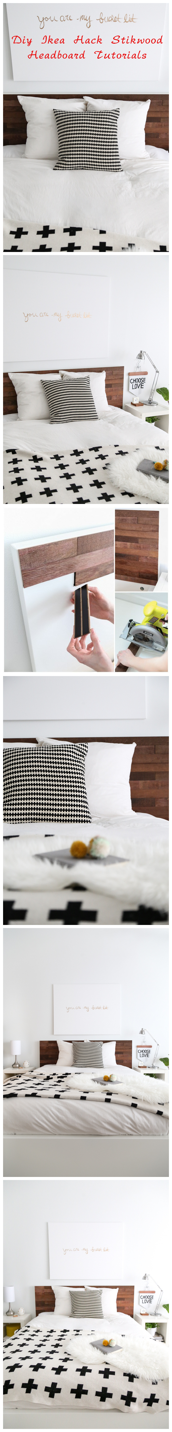 Diy Ikea Hack Stikwood Headboard Tutorials