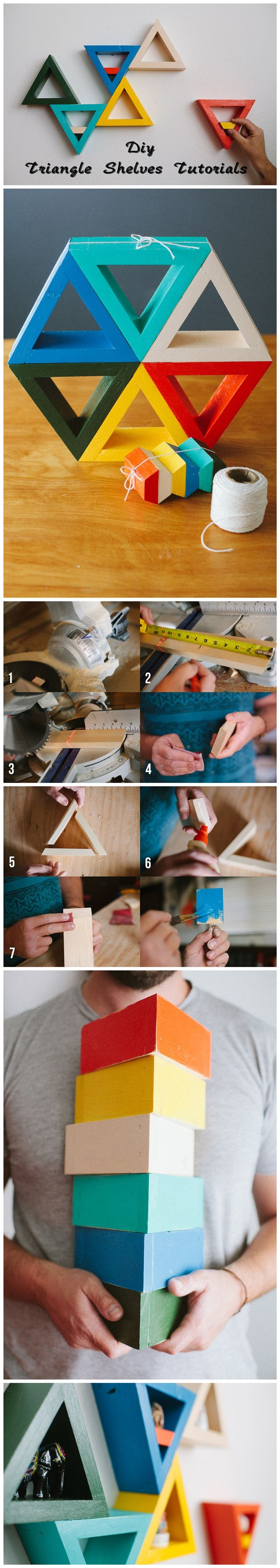 Diy Triangle Shelves Tutorials