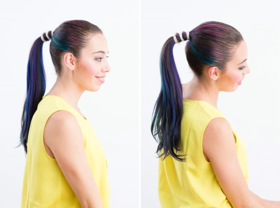 Three Elastic Ponytail Tutorial