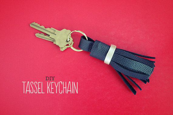Making Leather Tassel Keychain Tutorial