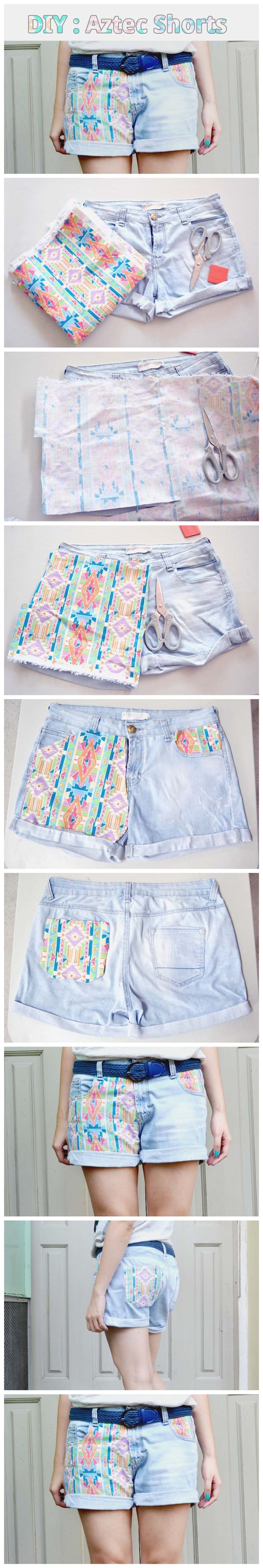 Diy Aztec Shorts Tutorial