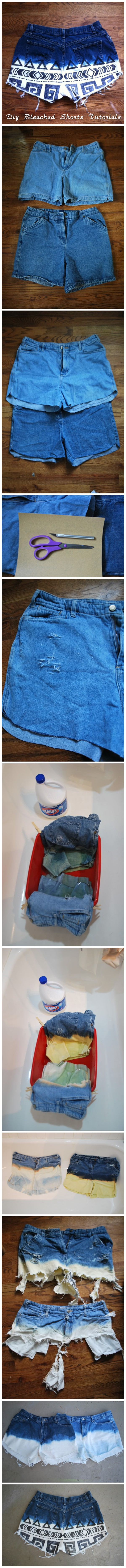 Diy Bleached Shorts Tutorials
