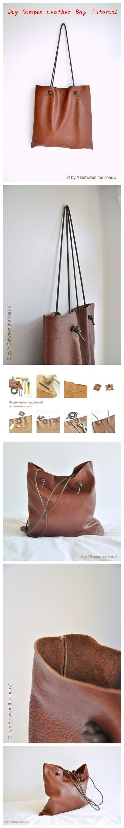 Diy Simple Leather Bag Tutorial