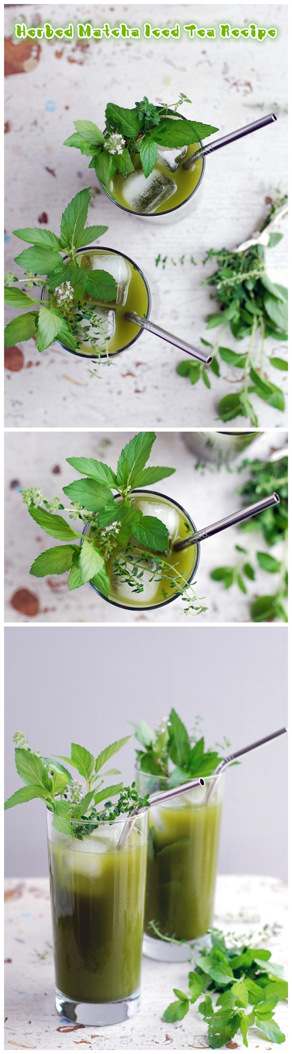 Herbed Matcha Iced Tea Recipe