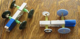Clothespin Button Racer Tutorials