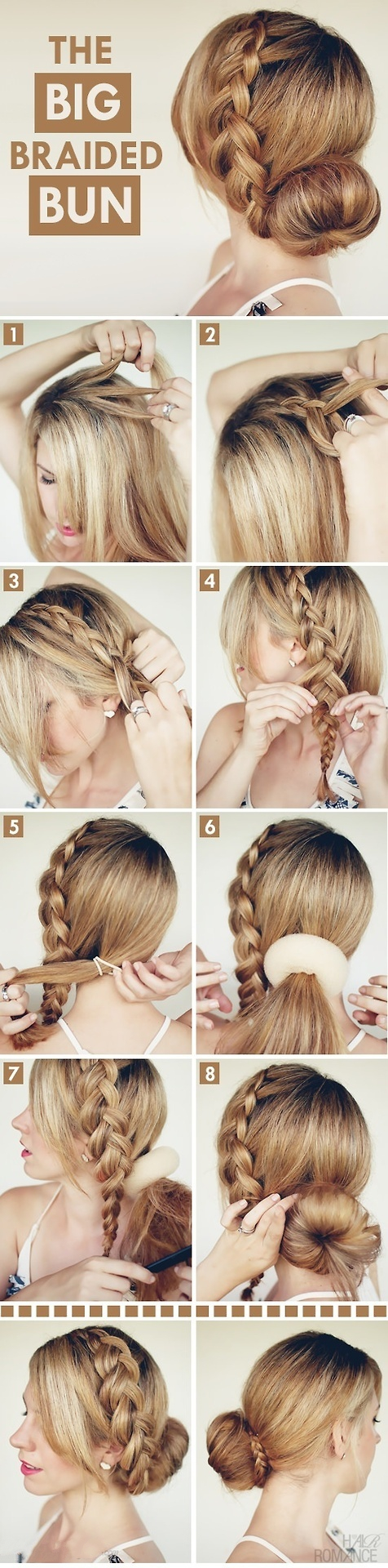 DIY Unique Braided Bun Hairstyle Tutorial