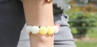 DIY Decorated Flower Bracelet Tutorial