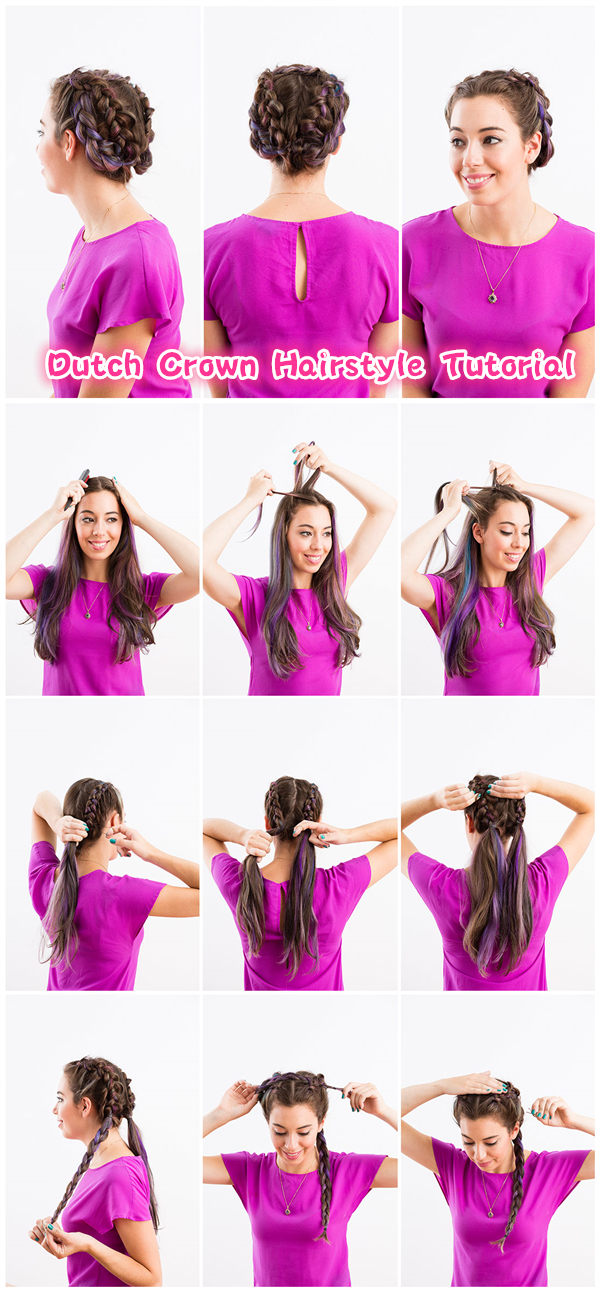 Dutch Crown Hairstyle Tutorial