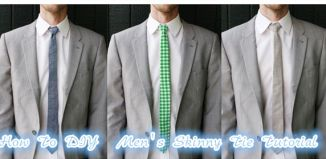 How To DIY Men's Skinny Tie Tutorial