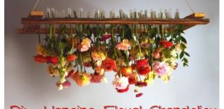 How To Diy Hanging Floral Chandelier Tutorial
