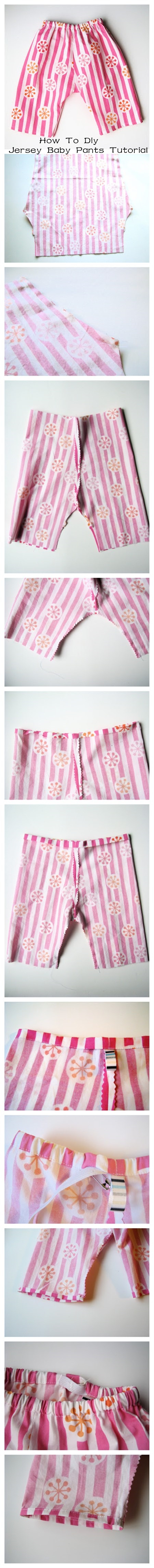 How To Diy Jersey Baby Pants Tutorial