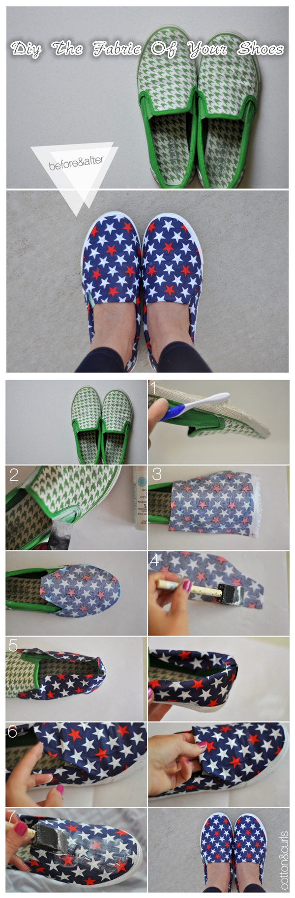 How To Diy The Fabric Of Your Shoes Tutorial