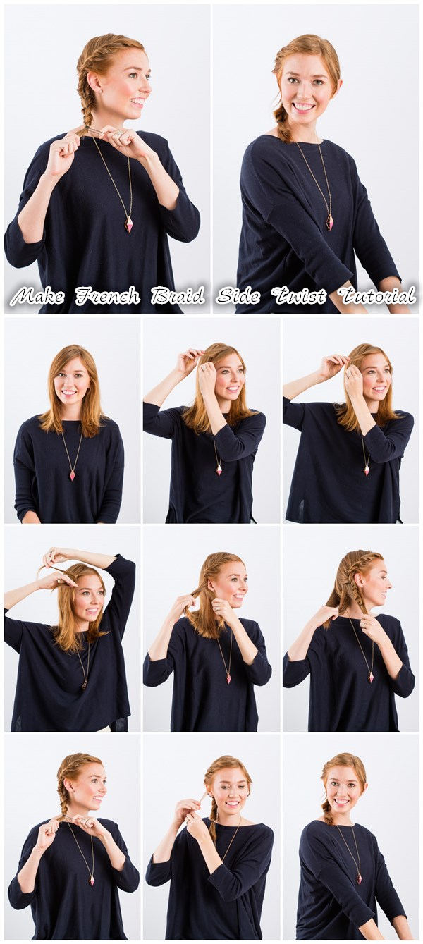 Make French Braid Side Twist Tutorial