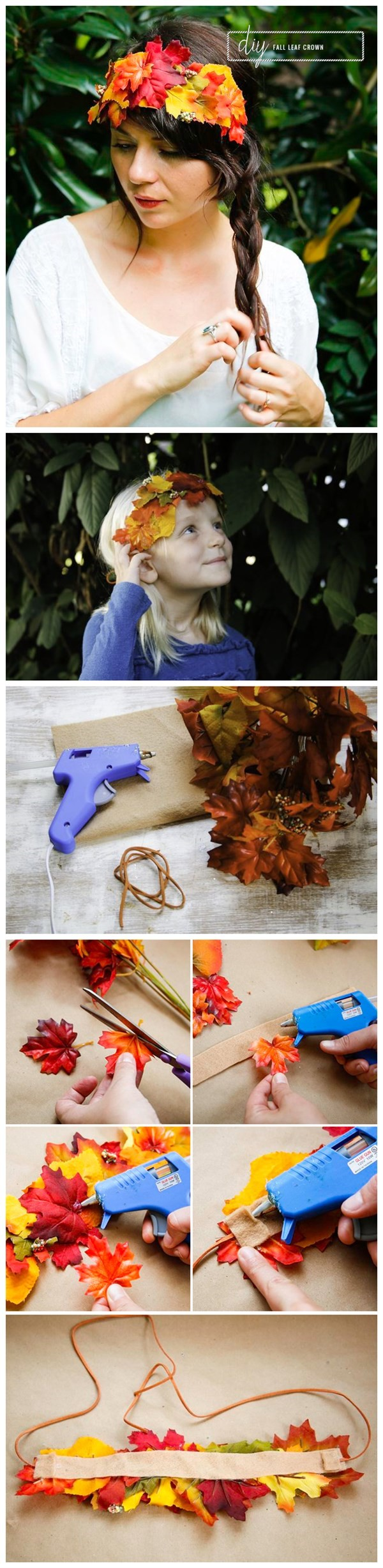 How To Diy Fall Leaf Crown Tutorial