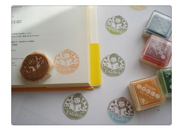 How to use the rubber stamp making bookplates Tutorials