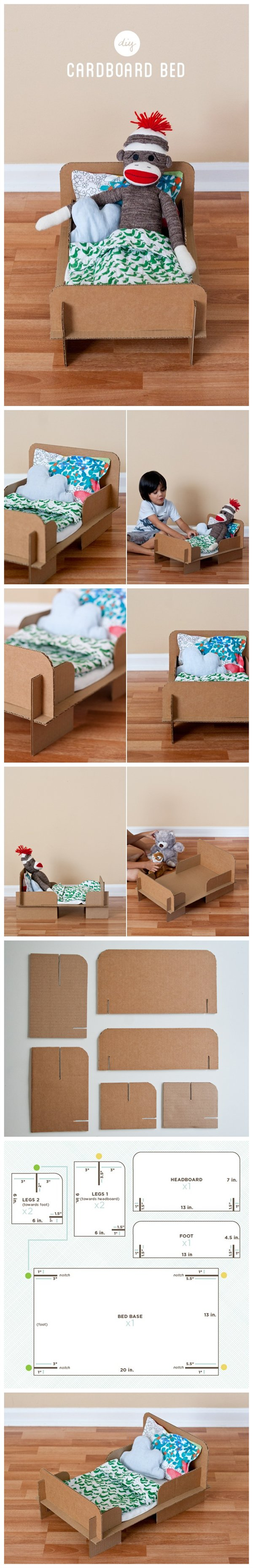 Diy Cardboard Bed Tutorials