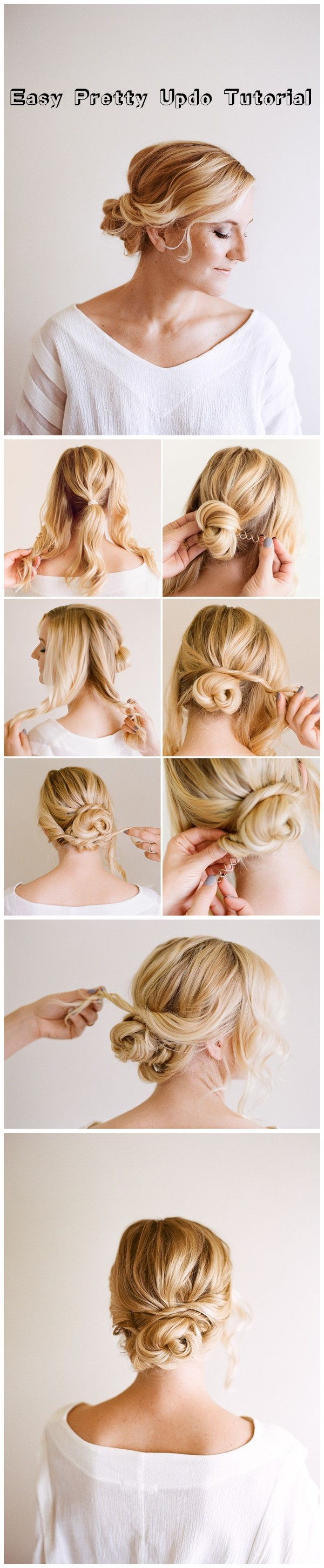 Easy Pretty Updo Hairstyle Tutorial