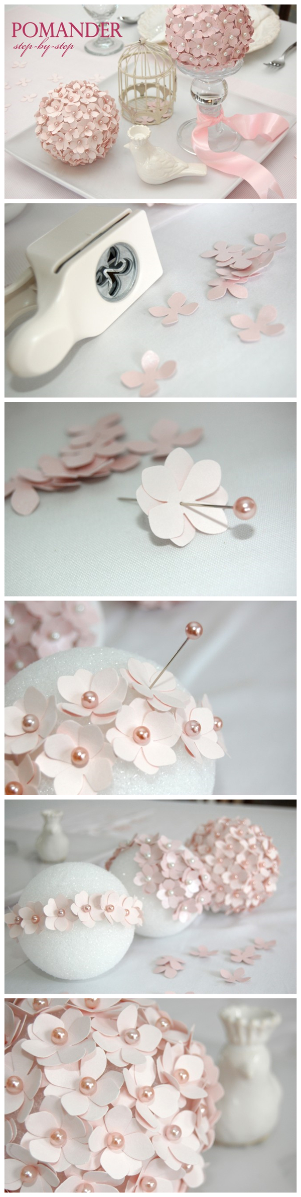 Make Pomander Flower Ball Tutorial