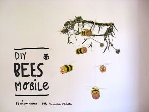 Diy Cork Bumblebee Mobile Tutorials