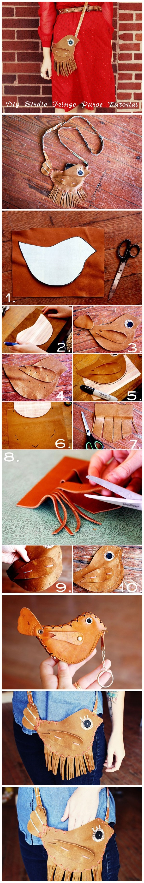 Diy Birdie Fringe Purse Tutorial