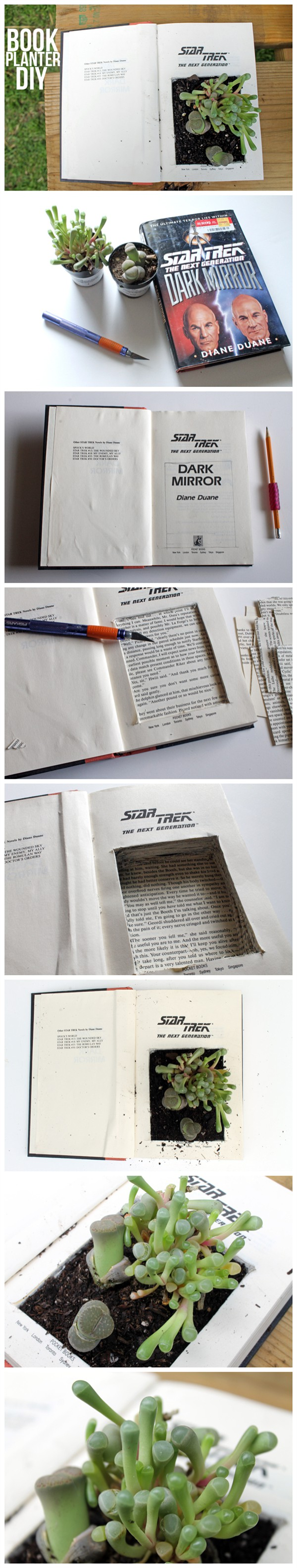 Diy Recycled Book Planter