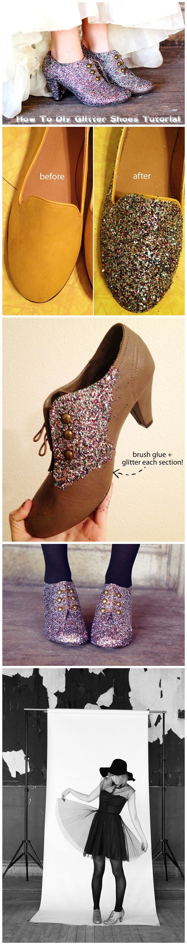 How To Diy Glitter Shoes Tutorial