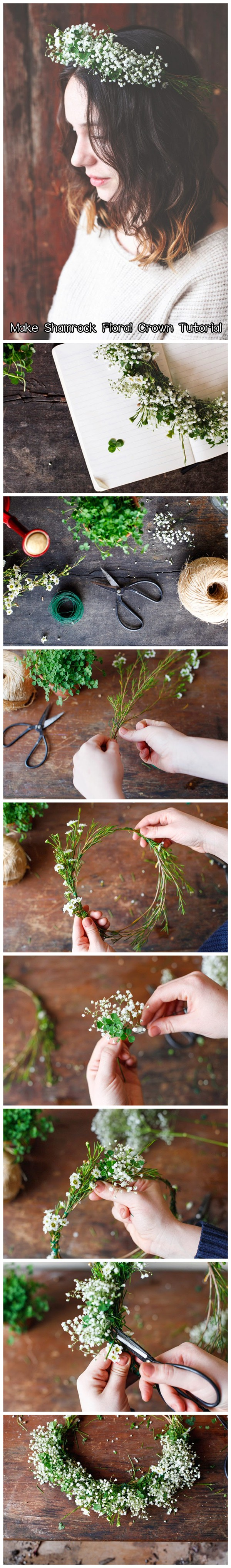 Make Shamrock Floral Crown Tutorial
