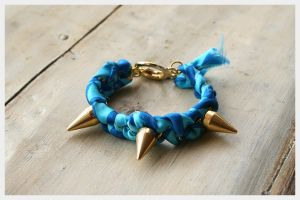 Diy Spike Bracelet Tutorial