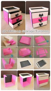 DIY Make Up Storage Tutorials