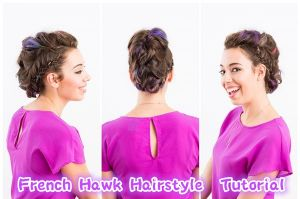 French Hawk Hairstyle Tutorial