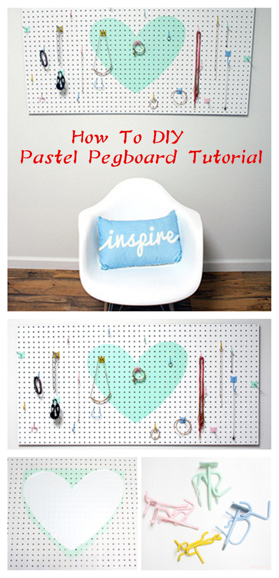 How To DIY Pastel Pegboard Tutorial