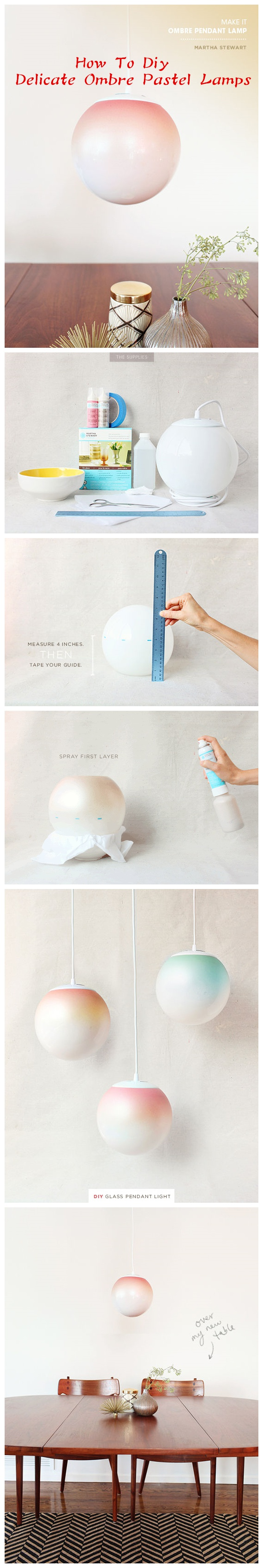 How To Diy Delicate Ombre Pastel Lamps