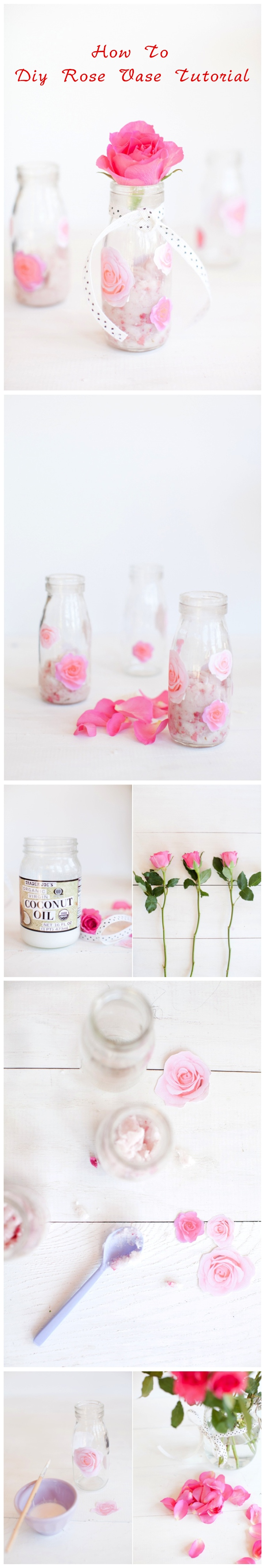 How To Diy Rose Vase Tutorial