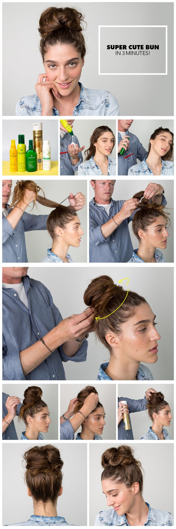 The Easiest Messy Bun in the World