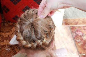 How To DIY Unique Braided Bun Hairstyle