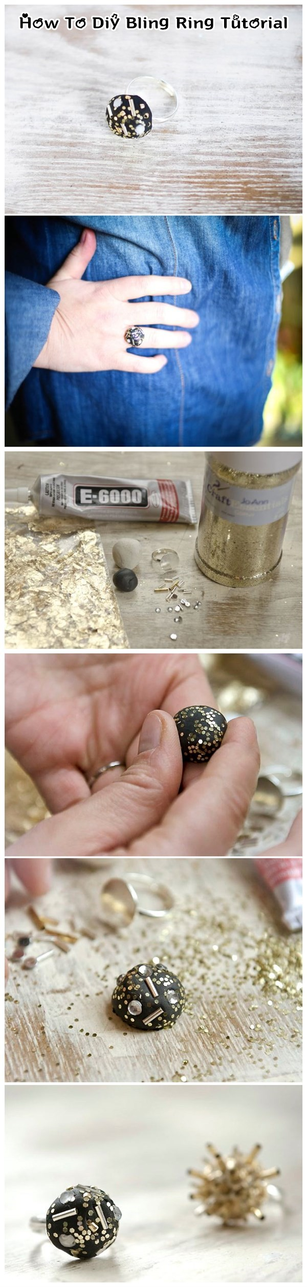 How To Diy Bling Ring Tutorial